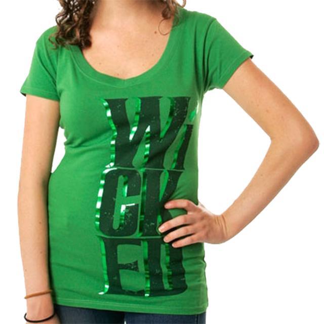 Wicked Organic Logo Foil V-neck