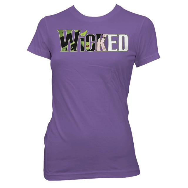 Wicked Organic Purple Witch Logo Tee