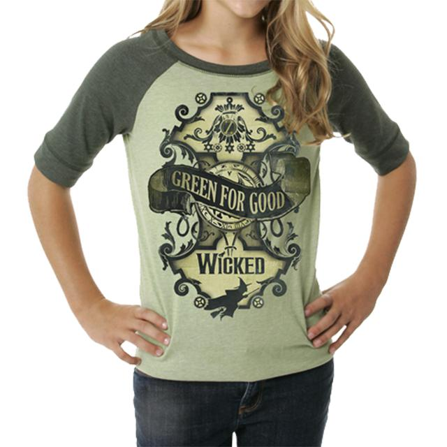 Wicked Green For Good Raglan Tee
