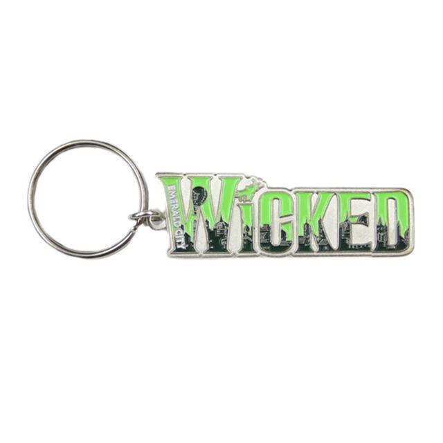 Wicked Emerald City Skyline Keychain