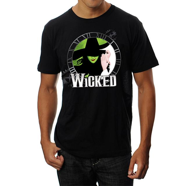 Wicked Black Logo Clock Tee