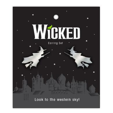 Wicked Flying Witch Earrings