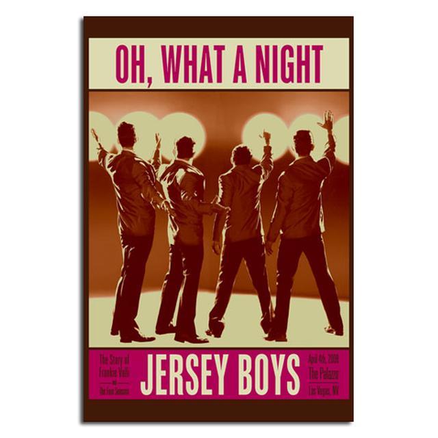 Jersey Boys Vintage Concert Poster