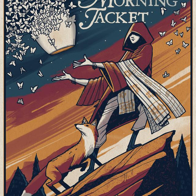 My Morning Jacket Red Rocks Show Poster 8/14/15