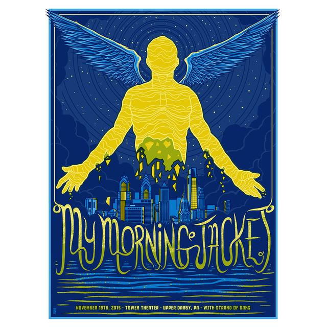 My Morning Jacket Upper Darby 11/19/15 Foil Show Poster
