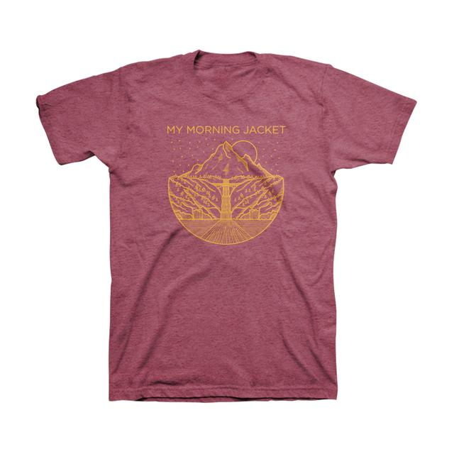 My Morning Jacket Gorge Tee (Burgundy Heather)