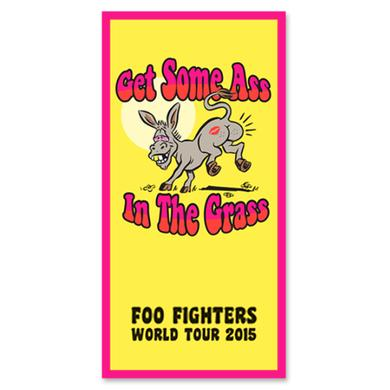 Foo Fighters Ass In The Grass Beach Towel