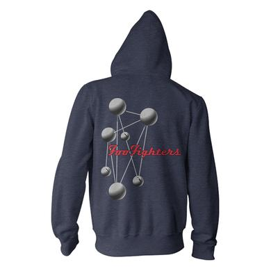 Foo Fighters Molecules Hoodie (Navy Heather)