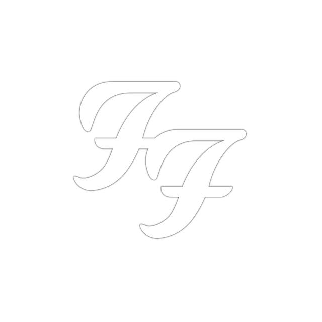 Foo Fighters FF White Decal