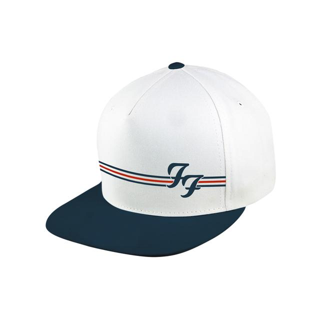 Foo Fighters White and Navy Snapback Hat