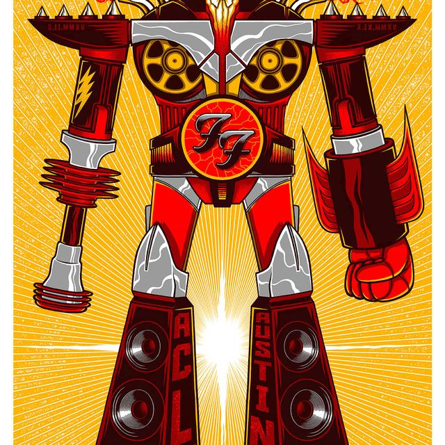 Foo Fighters Austin City Limits Event Poster