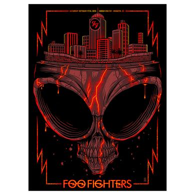 Foo Fighters Anaheim Skull Show Poster 10/17/15