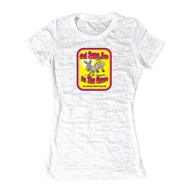 Foo Fighters Ass in the Grass Women's Burnout Tee