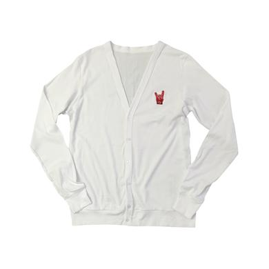 Foo Fighters Metal Fingers Cardigan (White)
