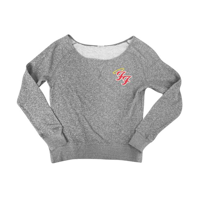 Foo Fighters Little Angels Off Shoulder Sweater (Grey)