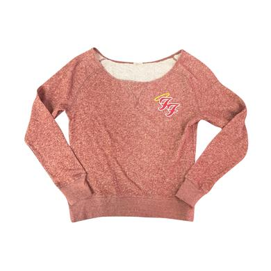 Foo Fighters Little Angels Off Shoulder Sweater (Red)