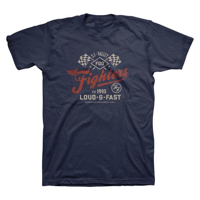 Foo Fighters Loud & Fast Unisex Tee (Navy)