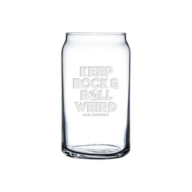 Foo Fighters Weird Beer Can Glass