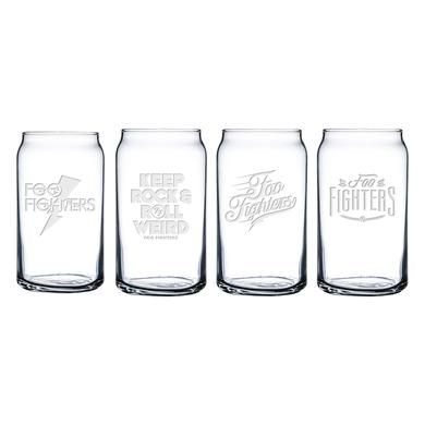 Foo Fighters Beer Can Glass 4 Pack