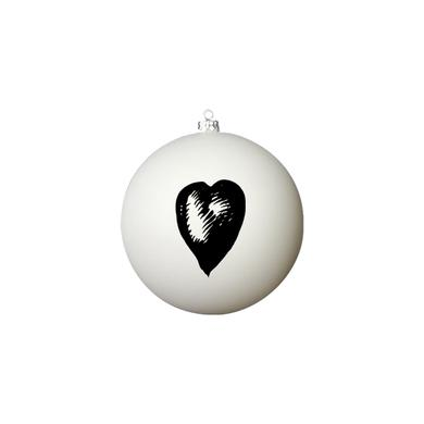 Foo Fighters One by One (Heart) White Ornament