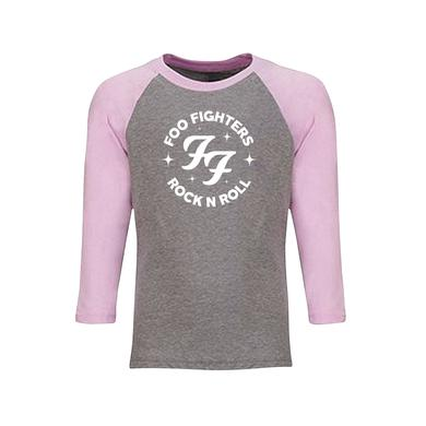 Foo Fighters Sparkles Kid's Baseball Tee (Pink)