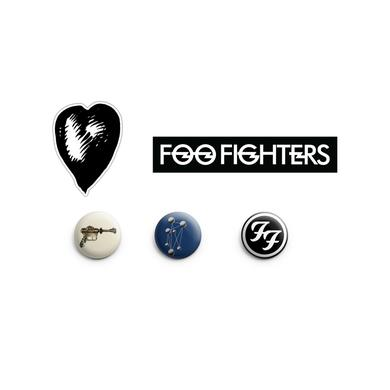 Foo Fighters Album Cover Button and Sticker Pack