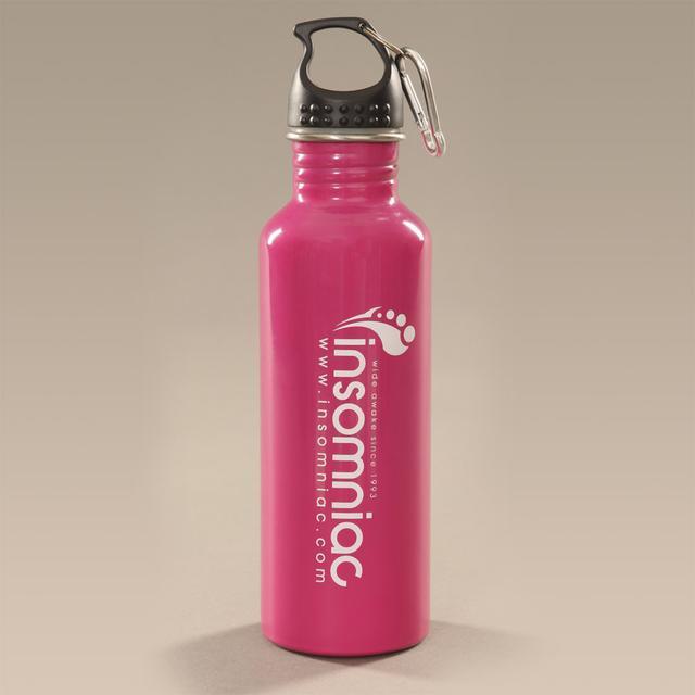 Insomniac Logo Water Bottle Fuchsia