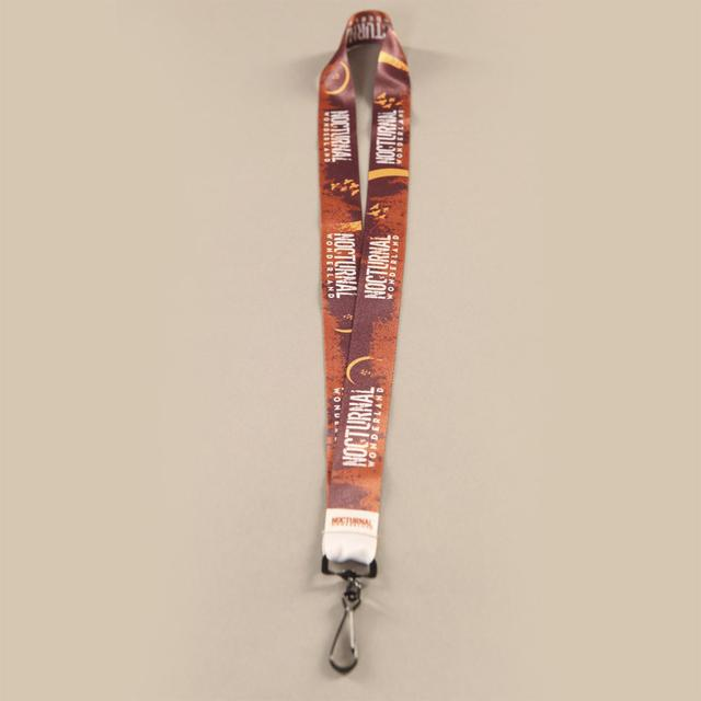 Insomniac Nocturnal Wonderland Lanyard Brown/Gold