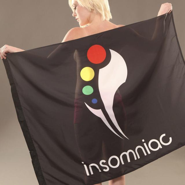 Insomniac Logo Flag Black