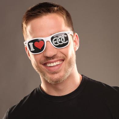 Insomniac I Heart EDC Sunglasses White