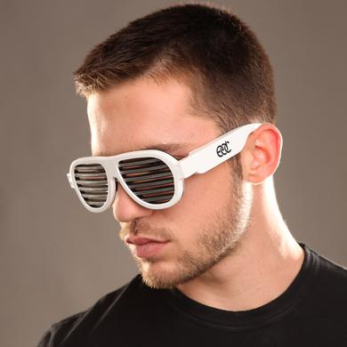 Insomniac EDC Sound Reactive LED Sunglasses White