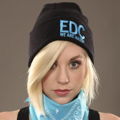 Insomniac EDC We Are Massiv Beanie Black