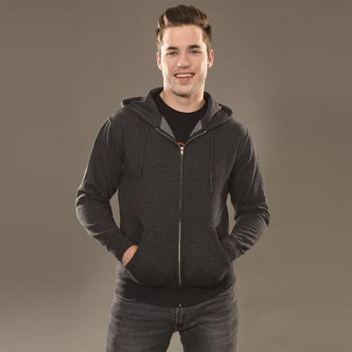 Insomniac Logo Zip Hoodie Charcoal Heather