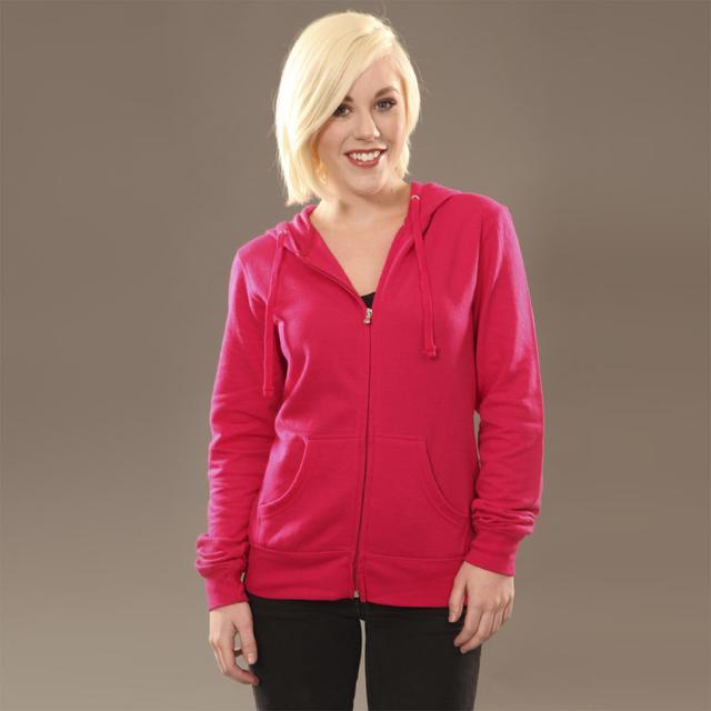 Insomniac Logo Jr Zip Hoodie Bright Pink