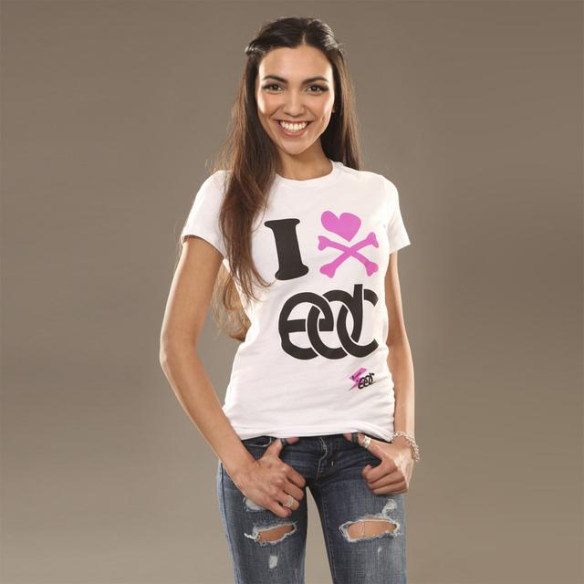 Insomniac EDC I Heart Junior Tee White