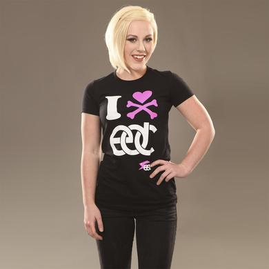 Insomniac EDC I Heart  Junior Tee Black