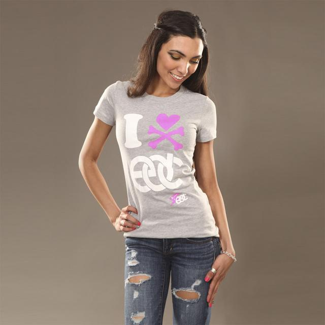 Insomniac EDC I Heart  Junior Tee Athletic Heather