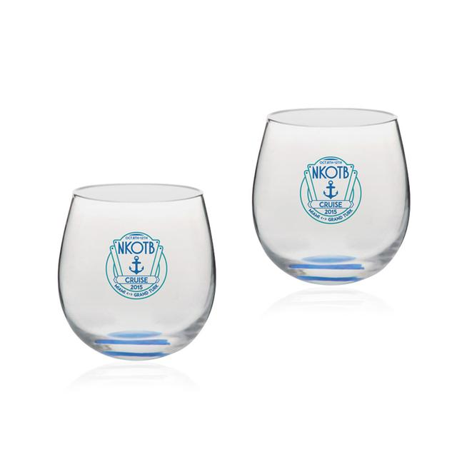 New Kids On The Block NKOTB Cruise Wine Glass Set