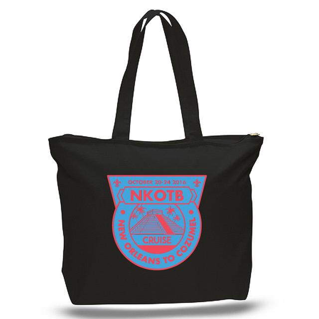 New Kids On The Block Cruise 2016 Zippered Tote Bag