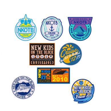New Kids On The Block NKOTB Cruise Patch Set