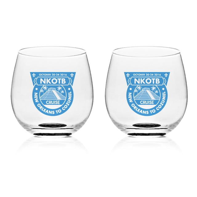 New Kids On The Block Cruise 2016 Wineglass set