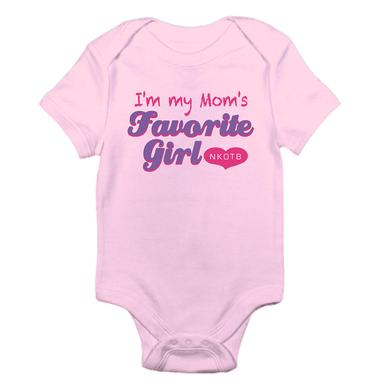New Kids On The Block Mom's Favorite Girl Baby Onesie