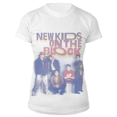 New Kids On The Block Retro Photo Ladies Tee
