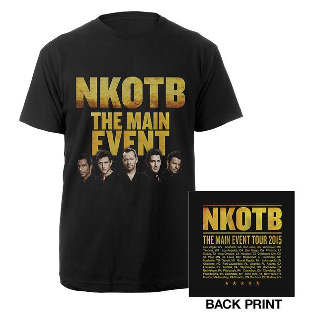 New Kids On The Block NKOTB The Main Event Tour Tee