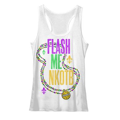 New Kids On The Block Flash Me NKOTB Cruise Inspired Ladies Racerback Tank