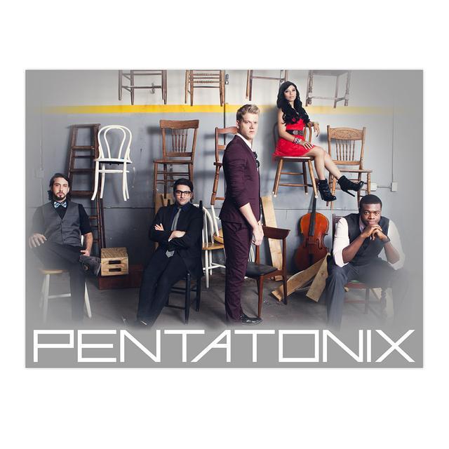 """Pentatonix Chairs Band Photo Poster 34"""" X 22"""""""
