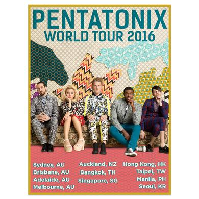Pentatonix World Tour AU, NZ & Asia 2016 Poster