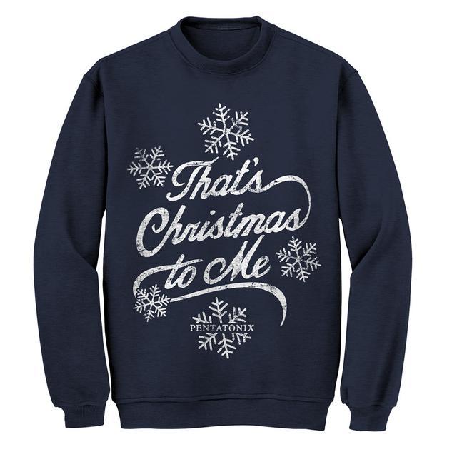 Pentatonix That's Christmas To Me Navy Sweatshirt