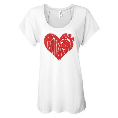 Pentatonix Heart Logo Women's Flowy Raglan Tee