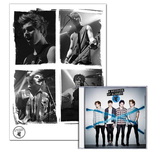 5SOS: Standard CD + Limited Edition Live Print Bundle